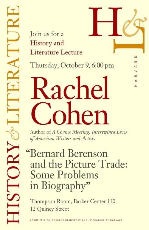 Lecture at Harvard