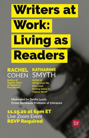 Nov 19th Living as Readers Harvard Conversation with Katharine Smyth Deidre Lynch