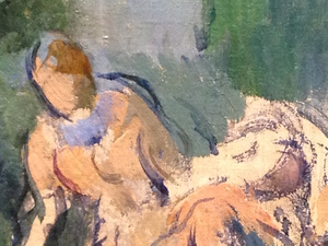 Ceacutezanne detail of The Bathers Art Institute of Chicago