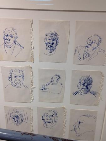 Delaney selfportrait sketches