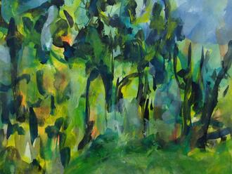 Beauford Delaney Untitlted Watercolor Detail