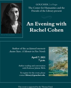 An Evening with Rachel Cohen