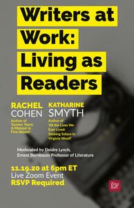 Nov 19th 6 Eastern nbsp5 Central Living as Readers Harvard Conversation with Katharine Smyth Deidre Lynch