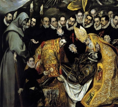 El Greco The Burial of the Count Orgaz 1586 detail